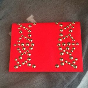 Be & D Nells Studded Envelope Clutch